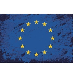 European Union flag Grunge background vector