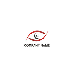 eye abstract monitor company logo vector image