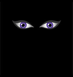 Eyes of the devil in dark - halloween themed vector