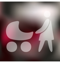 Family icon on blurred background vector