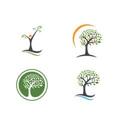 Family tree symbol icon logo design template vector