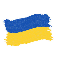 flag of ukraine grunge abstract brush stroke vector image