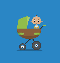 flat style with little boy in vector image