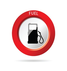Gas pump red icon vector
