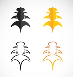Goldfish and black goldfish on white background vector image