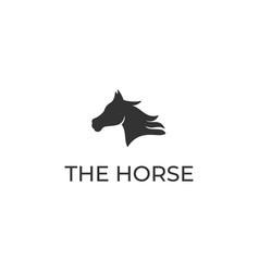 horse back ass view back side logo design vector image
