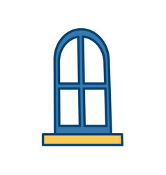 house big window vector image