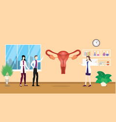 human ovarium anatomy structure health care vector image