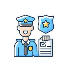 Law enforcement rgb color icon vector