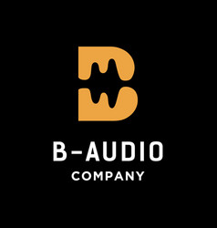 Letter b and audio logo vector