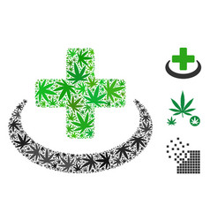 Medical community collage of cannabis vector