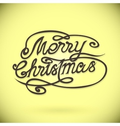 MERRY CHRISTMAS hand letteringcustom handmade vector image vector image