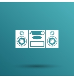 Music center icon art audio vector image