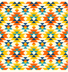 Native american colorful diamonds navajo pattern vector