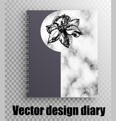 notebook for a student with a beautiful print vector image