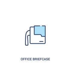 Office briefcase concept 2 colored icon simple vector