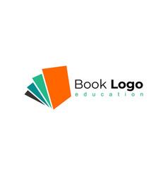 open book logo education logo flat vector image