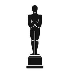 Oscar statue icon simple style vector
