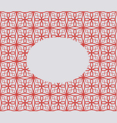 oval on mesh geometric seamless ornament red and vector image