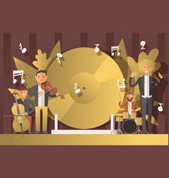 performance people musicians in suits vector image