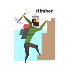 Rock climber abstract figure vector