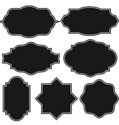 set blank vintage frame badges and labels vector image