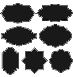 Set of blank vintage frame badges and labels vector image