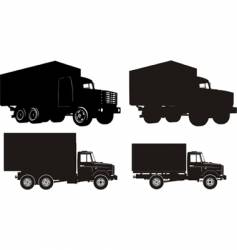 set of truck illustrations vector image