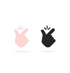 set snap finger like easy icon vector image