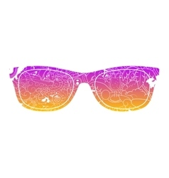 Summer sunglasses design vector image