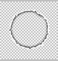 Tattered round hole vector