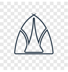 tipi concept linear icon isolated on transparent vector image