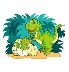 tyrannosaurus rex family vector image