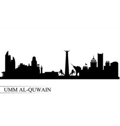Umm al-quwain city skyline silhouette background vector