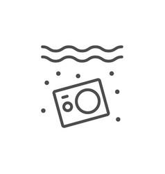 Underwater action camera line icon vector