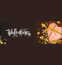 valentines day banner background design of vector image