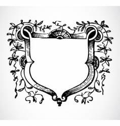 Vine floral frame vector