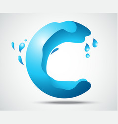 Water splash abstract in the circle vector