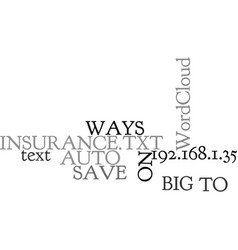 Ways to save big on auto insurance text word vector