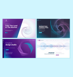web page design templates with abstract background vector image