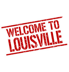 Welcome to louisville stamp vector