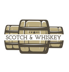 Whiskey and scotch isolated icon alcohol drink vector