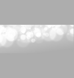 white gray background with bokeh light effect vector image
