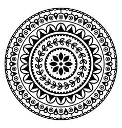 Mandala Indian inspired round geometric pattern vector image