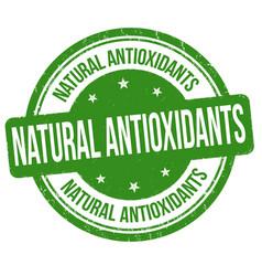 natural antioxidants grunge rubber stamp vector image vector image