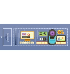 Video Processing Concept vector image