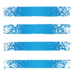 winter web banners vector image