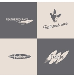 Feather logotype design templates vector image vector image