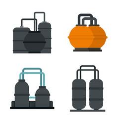 petrol reserve icon set flat style vector image