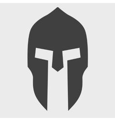 Silhouette of Spartan helmet vector image